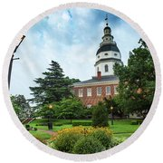 State Capitol Round Beach Towel