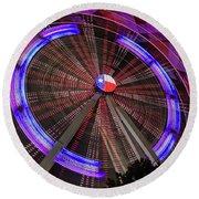 State Fair Of Texas Ferris Wheel Round Beach Towel