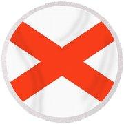 State Flag Of Alabama Round Beach Towel