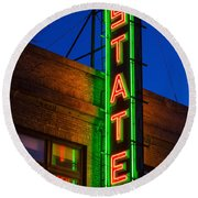 State Theatre - Ithaca Round Beach Towel