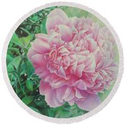 State Treasure Round Beach Towel by Pamela Clements