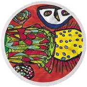 States Of Potential And Non Potentiality Round Beach Towel