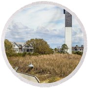 Station 18 On Sullivan's Island, Sc Round Beach Towel