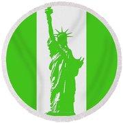 Statue Of Liberty No. 9-1 Round Beach Towel