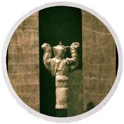 Statues Individual #1 Round Beach Towel