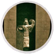 Statues Individual #3 Round Beach Towel