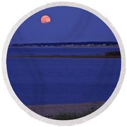 Stawberry Moon Round Beach Towel