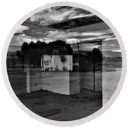 Round Beach Towel featuring the photograph Stay Out by David Pantuso