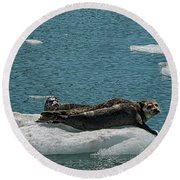 Staying Cool Round Beach Towel