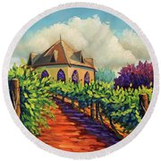 Ste Chappelle Winery Round Beach Towel