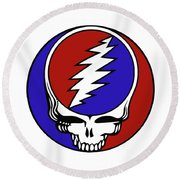 Steal Your Face Round Beach Towel
