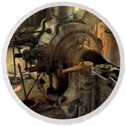 Steam Engine No 4 Round Beach Towel