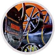 Steam Engines - Locomobiles Round Beach Towel