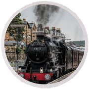 Steam Locomotive 48151 Round Beach Towel