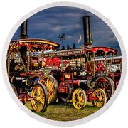 Round Beach Towel featuring the photograph Steam Power by Chris Lord