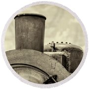 Round Beach Towel featuring the photograph Steam Train Series No 2 by Clare Bambers
