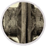 Round Beach Towel featuring the photograph Steam Train Series No 31 by Clare Bambers