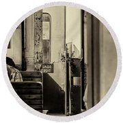 Round Beach Towel featuring the photograph Steam Train Series No 33 by Clare Bambers