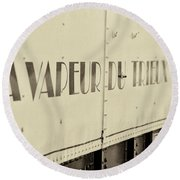 Round Beach Towel featuring the photograph Steam Train Series No 34 by Clare Bambers