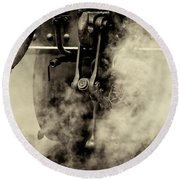 Round Beach Towel featuring the photograph Steam Train Series No 4 by Clare Bambers