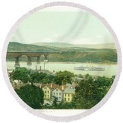 Steamers Waterfront And Ferrys - 07 Round Beach Towel