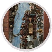 Steampunk 1 Round Beach Towel