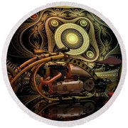 Steampunk Chopper Round Beach Towel by Louis Ferreira