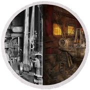 Steampunk - Final Inspection 1915 - Side By Side Round Beach Towel