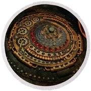 Steampunk Round Beach Towel by Louis Ferreira