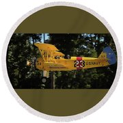 Stearman Round Beach Towel
