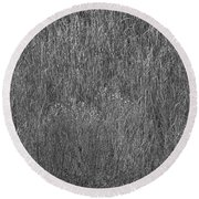 Steel Gray Grass Round Beach Towel