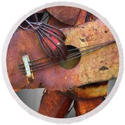 Steel Guitar - Or - Too Many Fingers And Not Enough Strings Round Beach Towel