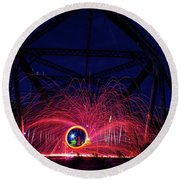 Steel Wool Spinner Round Beach Towel