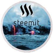 Steemit Heats Up Round Beach Towel
