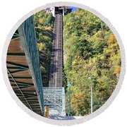 Steep Johnstown Incline Round Beach Towel