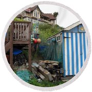Steephill Cove Round Beach Towel