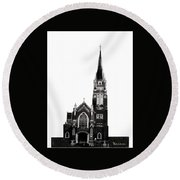 Steeple Chase 1 Round Beach Towel