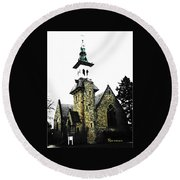 Steeple Chase 2 Round Beach Towel by Sadie Reneau