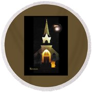 Steeple Chase 3 Round Beach Towel