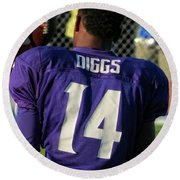 Stefon Diggs Round Beach Towel by Kyle West