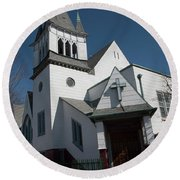Steinwy Reformed Church Steinway Reformed Church Astoria, N.y. Round Beach Towel