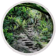 Step On Up Round Beach Towel