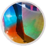 Step Up Round Beach Towel by Richard Laeton