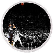 Steph Curry Its Good Round Beach Towel by Brian Reaves