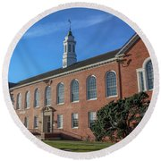Round Beach Towel featuring the photograph Stephens Hall by Gregory Daley  PPSA