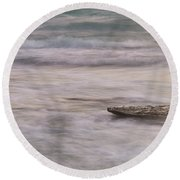 Round Beach Towel featuring the photograph Stepping Stone by Alex Lapidus