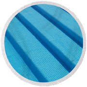 Steps In The Pool Round Beach Towel by Michael Canning