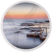 Steps To The Sea. Round Beach Towel
