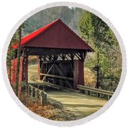 Sterling Covered Bridge Round Beach Towel
