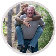 Steve And Karen Round Beach Towel